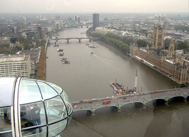 Темза вид с лондонского глаза
